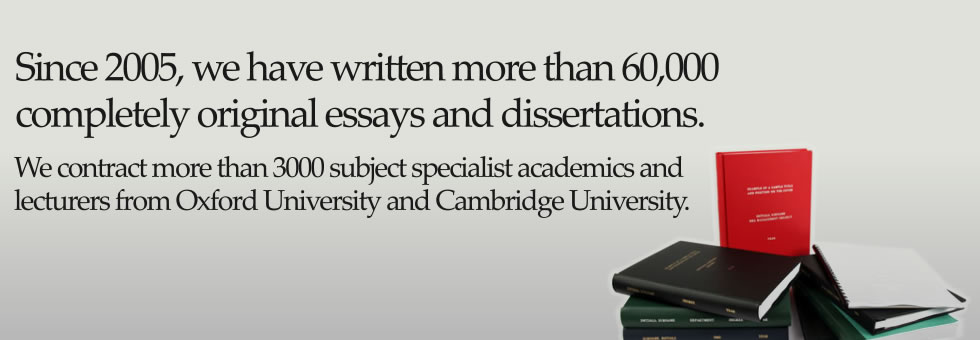 We're the largest and most trusted provider of custom essays, dissertations and law materials in the UK.